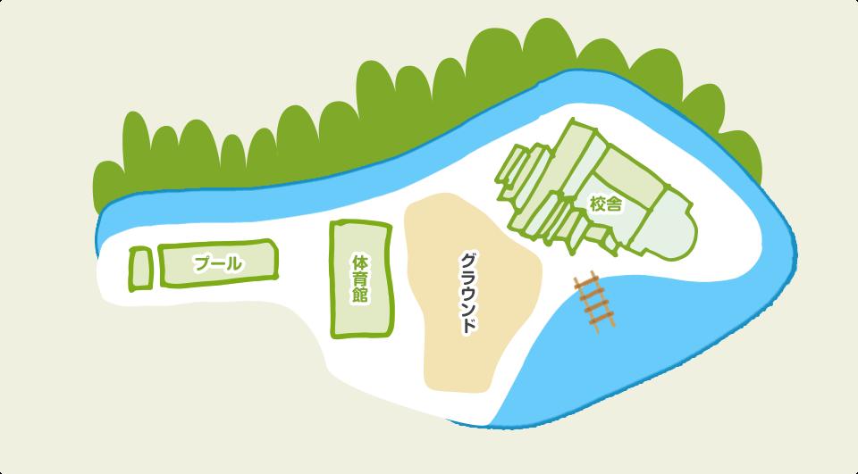 宮地東小学校 学校全体図