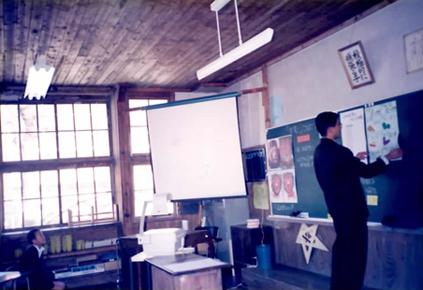 宮地東小学校 授業中