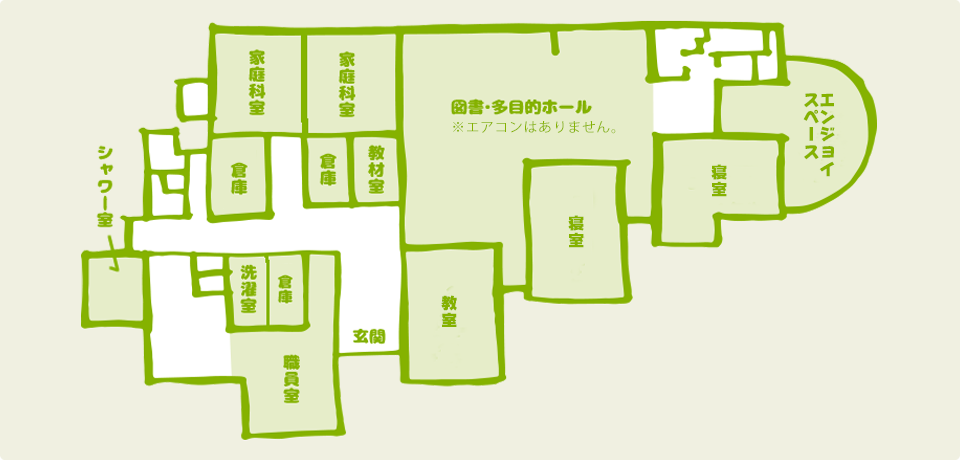宮地東小学校校舎内マップ
